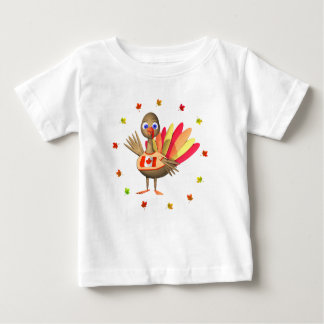 Canadian Thanksgiving Baby Turkey Baby T-Shirt