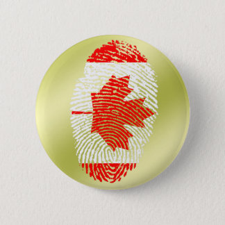 Canadian touch fingerprint flag 6 cm round badge