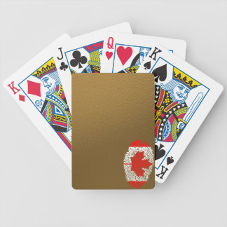 Canadian touch fingerprint flag bicycle playing cards