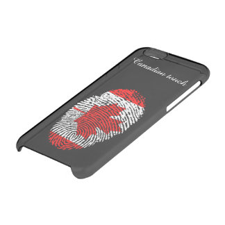 Canadian touch fingerprint flag clear iPhone 6/6S case