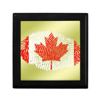 Canadian touch fingerprint flag gift box