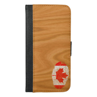 Canadian touch fingerprint flag iPhone 6/6s plus wallet case
