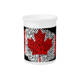 Canadian touch fingerprint flag pitcher
