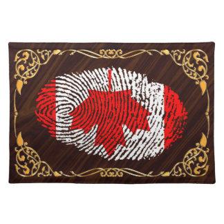 Canadian touch fingerprint flag placemat