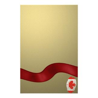 Canadian touch fingerprint flag stationery