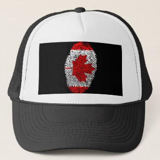 Canadian touch fingerprint flag trucker hat
