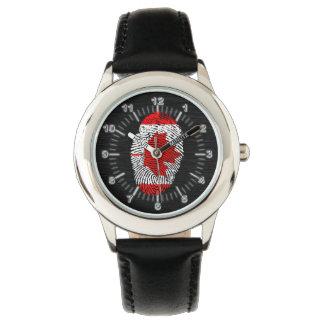 Canadian touch fingerprint flag watch