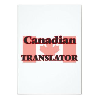 Canadian Translator 13 Cm X 18 Cm Invitation Card