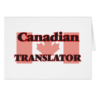 Canadian Translator Greeting Card