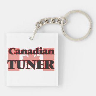 Canadian Tuner Double-Sided Square Acrylic Key Ring