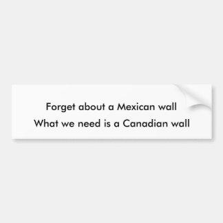 Canadian wall bumper sticker