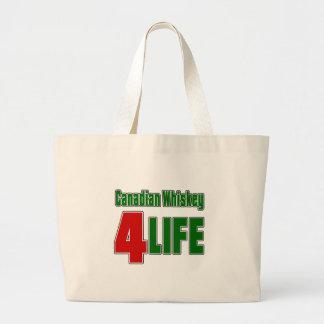 Canadian Whiskey 4 Life Jumbo Tote Bag