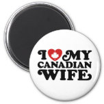 Canadian Wife 6 Cm Round Magnet