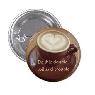 Canadian witchy coffee 3 cm round badge