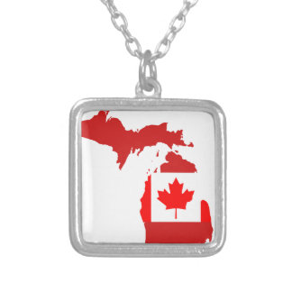 Canadians live or work in michigan custom necklace