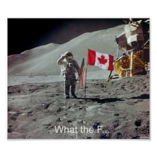 Canadians on the moon poster