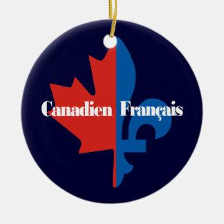 Canadien Francais Christmas Ornament