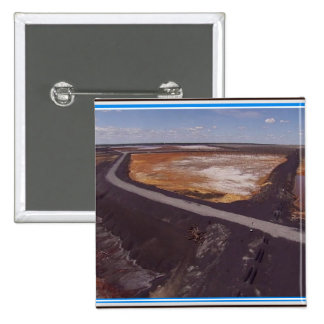Canadiian Landscape of Polluted Mining Disaster 99 15 Cm Square Badge