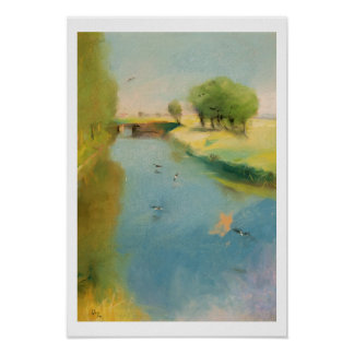 Canal, 1897 (pastel on canvas) poster