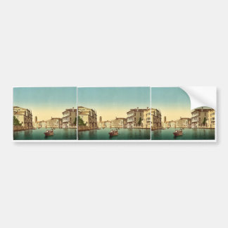 Canal and gondolas, Venice, Italy vintage Photochr Bumper Stickers