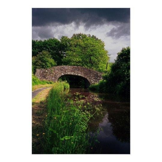 Canal at Brecon, Wales, print