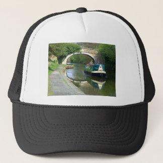 Canal Boat Cruising Along Trucker Hat
