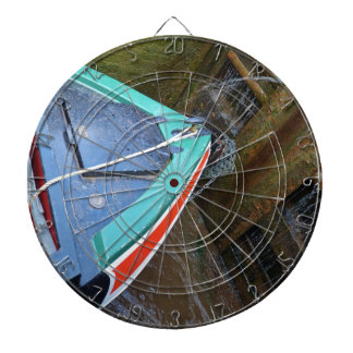 Canal Boat In Lock Dartboard