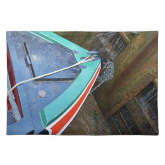 Canal Boat In Lock Placemat
