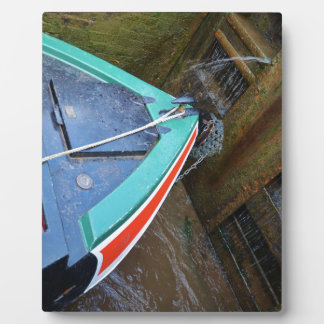 Canal Boat In Lock Plaque