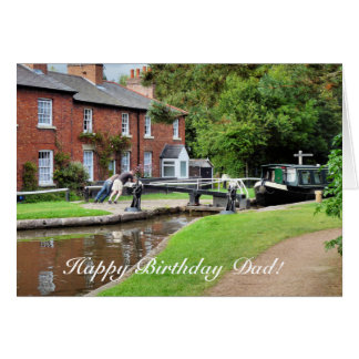 CANAL BOATS GREETING CARD