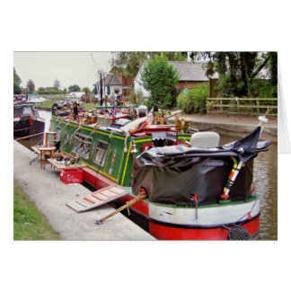 CANAL BOATS CARD