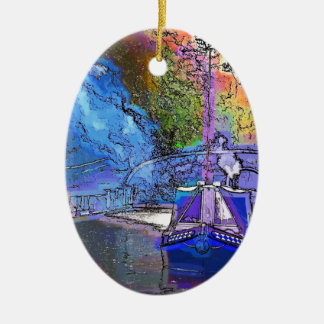 CANAL BOATS CHRISTMAS ORNAMENT