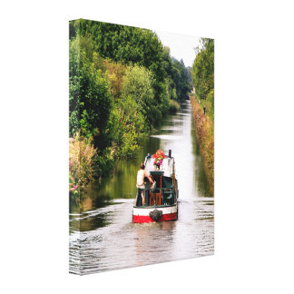 CANAL BOATS GALLERY WRAP CANVAS