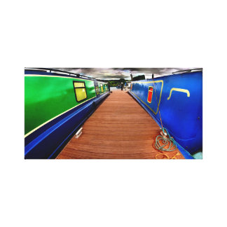 canal boats gallery wrapped canvas