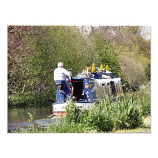 CANAL BOATS PHOTO PRINT