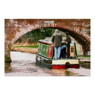 CANAL BOATS POSTER