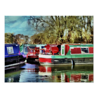 CANAL BOATS PRINT