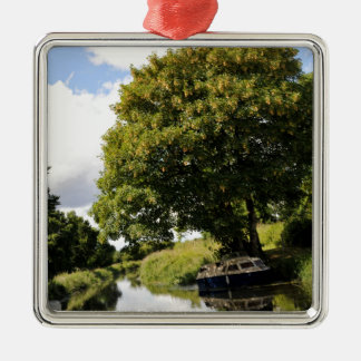 Canal Boats Silver-Colored Square Decoration