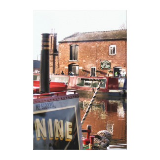 CANAL BOATS STRETCHED CANVAS PRINTS
