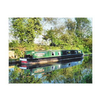 CANAL BOATS UK GALLERY WRAPPED CANVAS