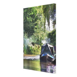 CANAL BOATS UK CANVAS PRINT