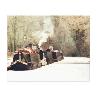 CANAL BOATS UK GALLERY WRAP CANVAS