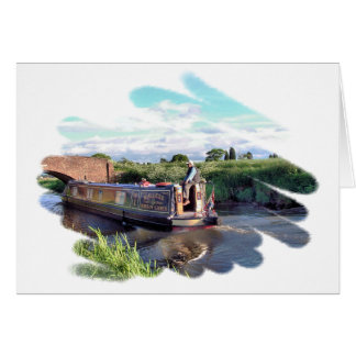 CANAL BOATS UK GREETING CARD