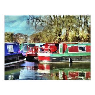 CANAL BOATS UK ART PHOTO