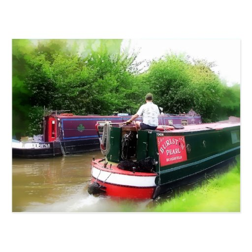 CANAL BOATS UK POST CARD