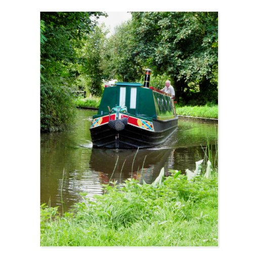 CANAL BOATS UK POSTCARDS