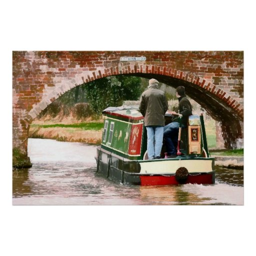 CANAL BOATS UK PRINT