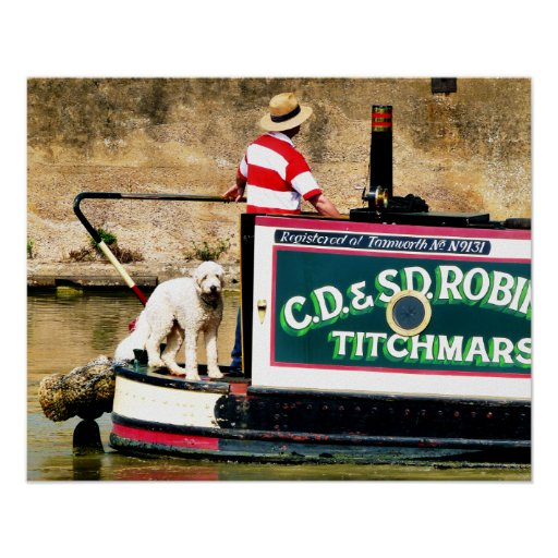 CANAL BOATS UK POSTERS