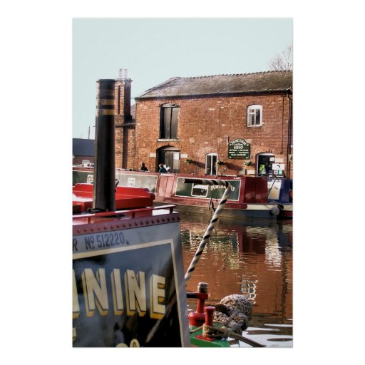 CANAL BOATS UK POSTER
