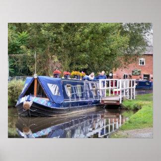 CANAL BOATS UK PRINT